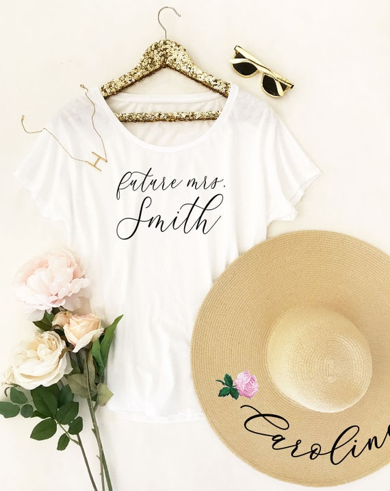 bride shirt future mrs shirt personalized bride gift bridal