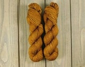Gingerbread, QCC Yarn, Squooshy Cat Yarn, Fingering Weight Yarn, Merino Wool, Brown, Hand Dyed
