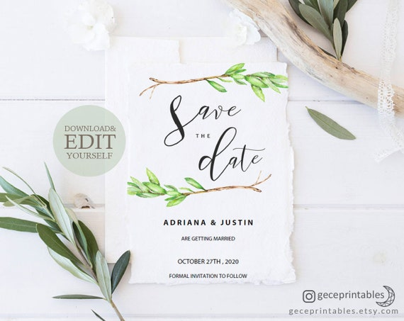 Editable Save The Date Template Diy Save The Date Save The Date