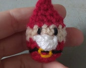 READY TO SHIP - Mini Santa - overstock clearance priced crochet ornaments wholesale Christmas decorations amigurumi father Christmas
