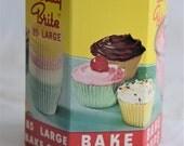 BETTY BRITE CUPS Paper Baking Cupcake Liners Cake 1960s 1950s Box Cake Graphics Chef Kitchen Shelf Decor Kitsch Retro Display Recipe Nos