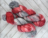 An Un-Love Spell - Hand Dyed Sock Yarn Heavy Fingering Weight 100g Skein 462yds Plump Sock Base 75/25 Superwash Merino/Nylon