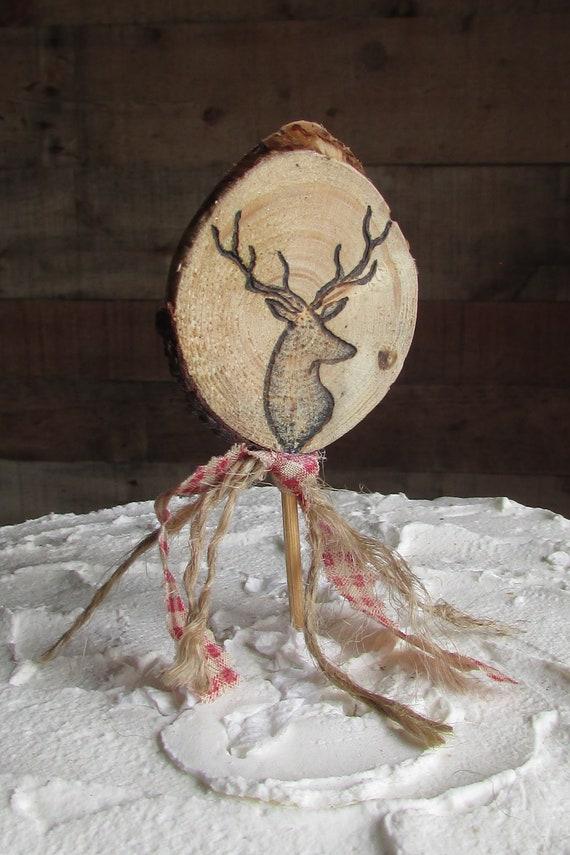 Deer Head Cake Topper Deer Cake Topper Hunting Cake Topper Deer