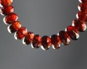 High Quality Mozambique Wine Garnet Bracelet, Sterling Silver Findings, Adjustable Length Closure 7.5-8.25