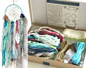 Aqua Blue DIY Dream Catcher Craft Kit Dreamcatcher Wall Hanging Boho Nursery Decor Birthday Gift Baby Gift