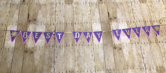 tangled banner tangled best day ever banner rapunzel birthday