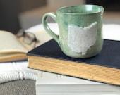 WONKY: Ohio Mug | Handmade Mug | Ohio Gift | Housewarming Gift | State Mug | Gift For Neighbor | Speckled Pottery | Mothers Day