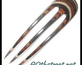 3 Prong 5 1/2 inch Lynne Style Hair Fork made of Buckskin Dymalux - 6902LY