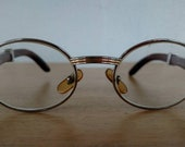 RESERVED for Kristopher D Cartier Giverny Palisander Rosewood Prescription Glasses Made in France