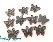 10/40 Pendant Charms BUTTERFLY color copper #S378