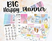 NewRELEASE Summer Chic set kit weekly stickers - BIG Happy Planner - fashion clothes girls glam pink blue beach vacation floral flowers