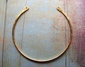 Hammered Bright Brass Open Hoop Finding - 1 piece - 2.25 inches in length