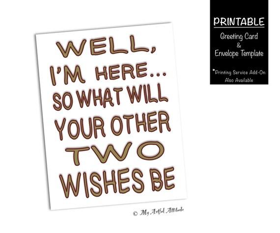 Funny valentines day printable card genie sarcastic anniversary il570xn m4hsunfo