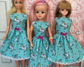 Rainbow Unicorn dress for Sindy and friends.(Adult collectors)