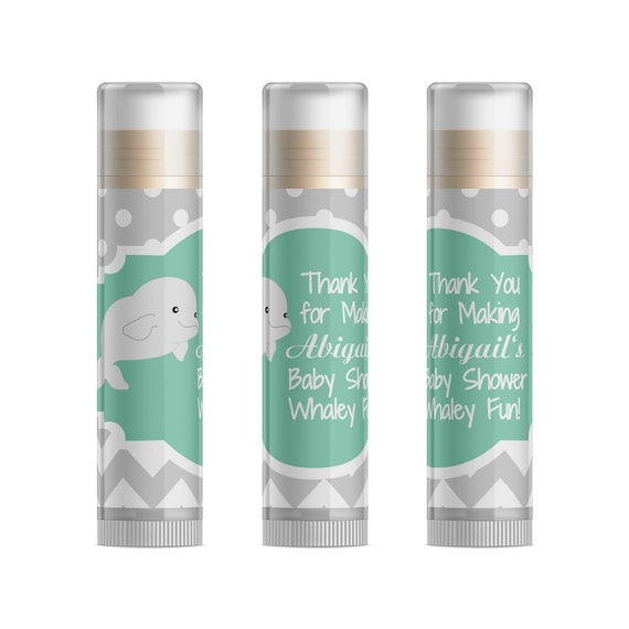 Beluga Whale Baby Shower Favors Neutral Whale Baby Shower Party