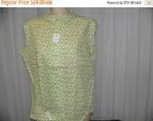 ON SALE 196-'s Cos Cob Cotton Sleevless Floral Print Blouse Size 18, 36 Bust.