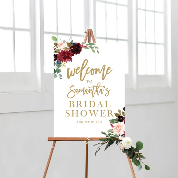 Welcome Sign Bridal Shower Template Bridal Shower, Welcome Bridal ...