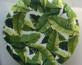 Decorative Spare Tire Cover - Palm Leaves