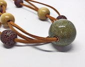 Multi Layer Beaded Necklace Essential Oil Necklace Diffuser Jewelry Boho Choker Necklace Lava Bead Necklace  Autumn Jewelry Fall Accessories