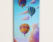 12x24 Signed Canvas Print - Off They Go -Hand Embellished by the Artist, Cindy Thornton