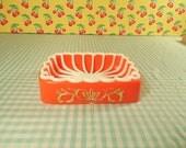 Orange Plastic Soap Dish For Your Vintage Bathroom Decor