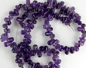 Natural Amethyst Tear Drop Beads 8x4mm Destash Sale