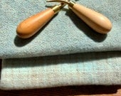 """Hand dyed wool fabric - """"Ameracanus Egg"""" - soft blue color for rug hooking - appliqué - penny rugs - wool projects"""