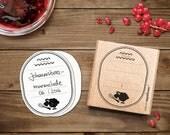 Etikettenstempel für Marmeladen & Selbstgemachtes