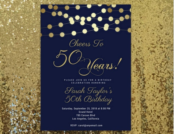 Cheers to 50 years invitation any age 50th birthday invitation for il570xn filmwisefo