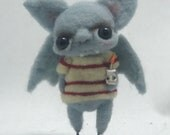 Barth the scaredy bat Original one of a kind art doll