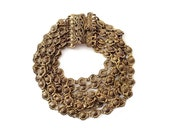 Vintage Multi Chain Rosette Bracelet with Wide Ornate Box Clasp