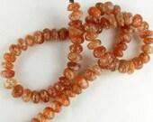 Natural Sunstone Smooth Rondelle Beads 4x6mm Destash Sale