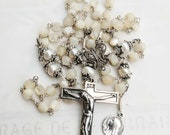 Rosary - Freshwater Pearl & Mother of Pearl Mary of Magdala - Sterling Silver