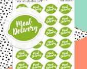 Meal Delivery Planner Stickers - Typography Planner Stickers - Script Planner Stickers - Meal Prep Stickers - Fresh Stickers - 1336