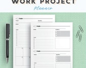 Productivity Planner for Office Tasks   To Do List Work Printable Planner Pack   Project Planner   Homework & Assignment Planner