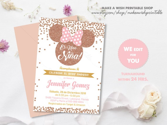 Spanish baby shower invitation girl spain baby shower invitation il570xn filmwisefo