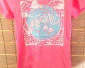 LAST Charlottesville Grow Your Own Roots Crew T-shirt - Bright Pink