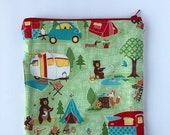 Happy Camper Sandwich Bag - Kids - Back to School - Sandwich Bag - Lunch Bag - Kids Sandwich Bag - Zero Waste - Reusable - Plastic Free July