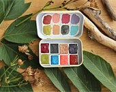 Watercolor handmade watercolour paint set in a travel tin 8 colors Galaxy Palette