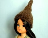 Sindy Hat Brown Alpaca Wool Hippie Pixie Fairy Style