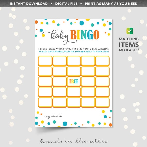 Printable bingo cards for baby shower blank game template pdf il570xn maxwellsz