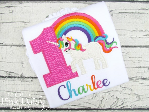 Unicorn 1st Birthday Shirt