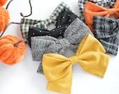 Fall Schoolgirl Fabric Bow