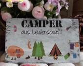 ShabbyStyle Schild - Camper aus Leidenschaft