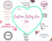 Custom listing for Jen // 18 Business Card Sized Quote Cards