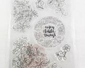 7 florale Silikonstempel Enjoy the little things romantisch vintage Kartengestaltung Dekoration Scrapbooking