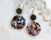 Revo earrings | colorful acrylic earrings | color statement earrings