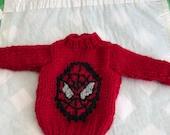 Christmas elf SpiderMan inspired jumper, elf clothes, elf girl, elf boy, barbie, action man