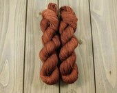 Conkers, QCC Yarn, Squooshy Cat Yarn, Fingering Weight Yarn, Merino Wool, Brown, Hand Dyed