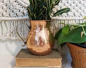 Brass and Copper Pitcher Vase, Party Vase, Decorative Vase, Flower Vase